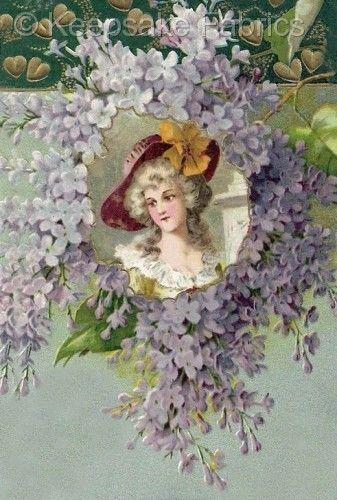 Lovely Victorian Lady Crazy Quilt Block Multi Sizes FrEE ShiPPinG WoRld WiDE (K7 #KeepsakeFabrics