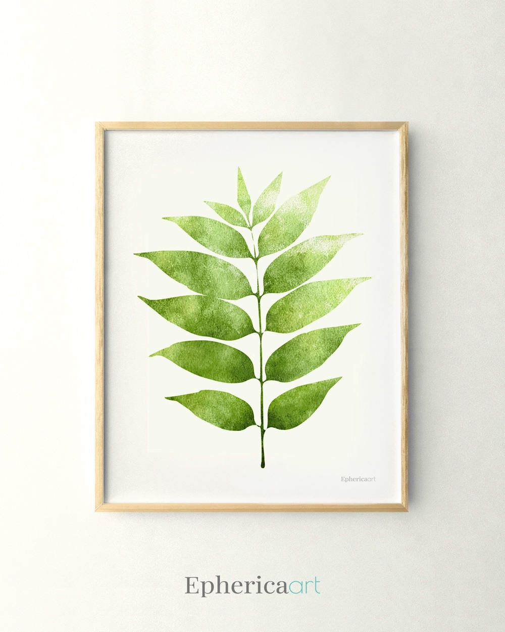 Printable design leaf illustration green decor plant art kitchen