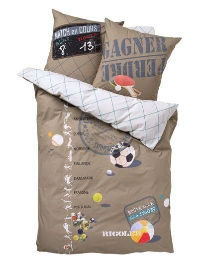 housse de couette garcon as du ballon boys room pinterest housses de couette couettes. Black Bedroom Furniture Sets. Home Design Ideas