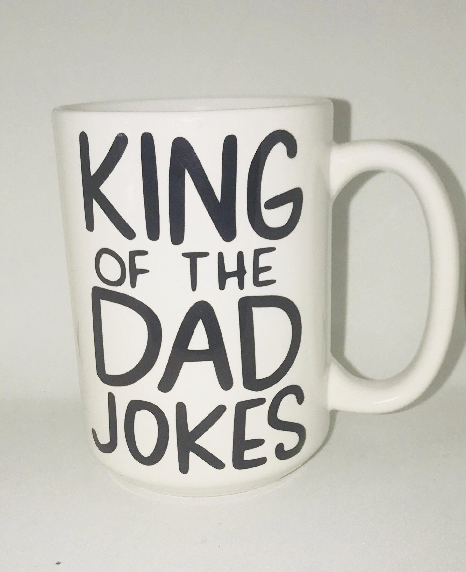 818a675e King of the Dad Jokes Coffee Mug Father's Day Gift- Gifts for Dads- Dad Gift-  Anniversary Gift- gifts for dad #fathersday