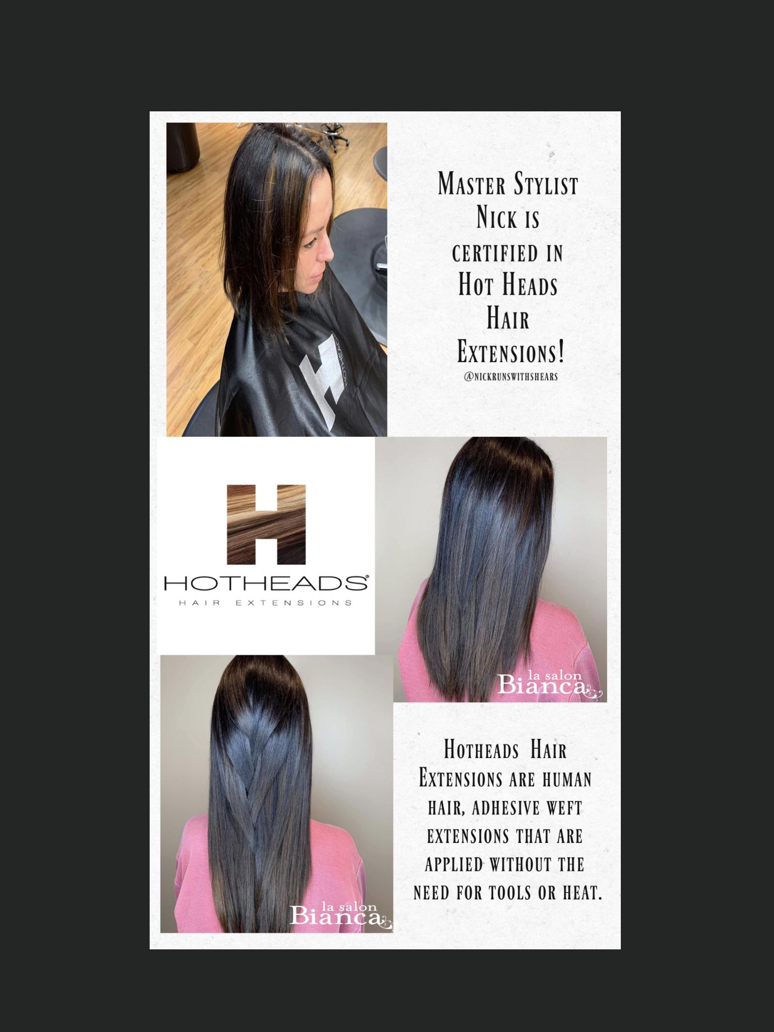 Hot Heads Extensions In 2020 Hot Heads Hair Extensions Best Salon Hair Salon