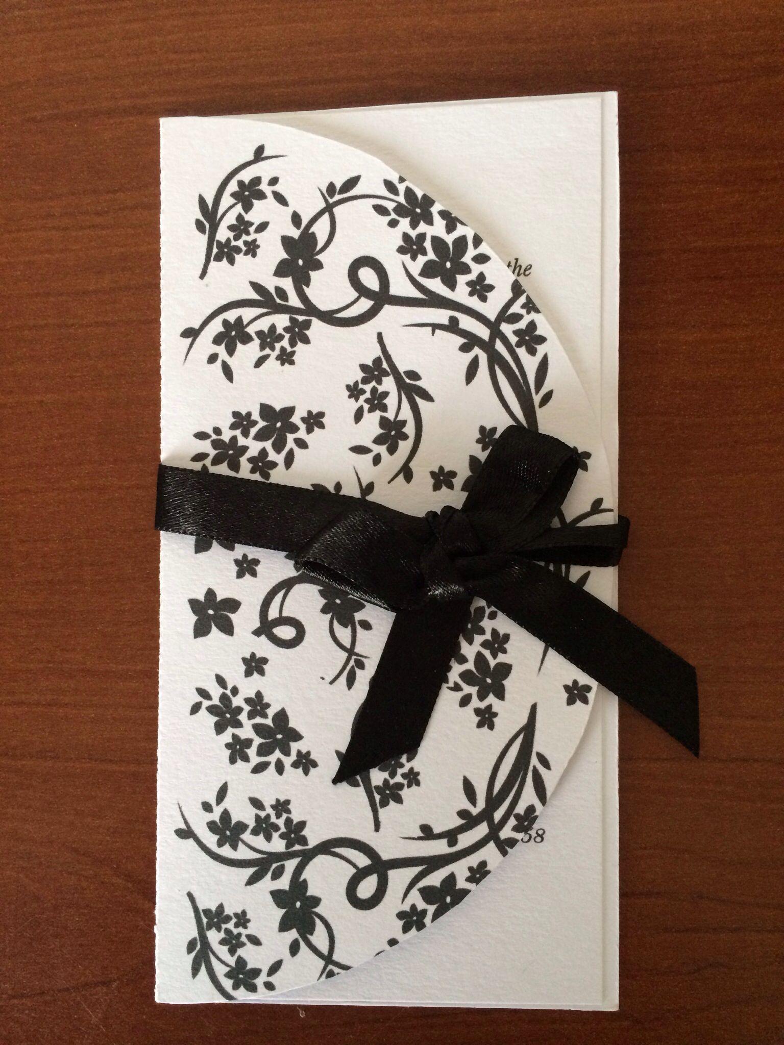 Invitación 15 años Blanco y negro Floral Tarjetas de Invitación 15 Años Pinterest
