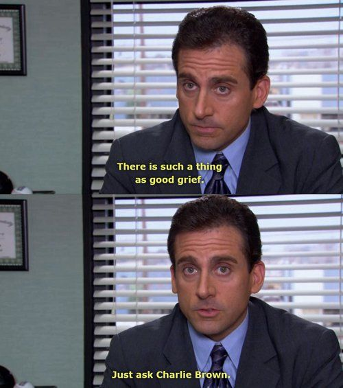 Funny Michael Scott Quotes Charlie Brown Inspirational Quotes | charlie brown, funny, grief  Funny Michael Scott Quotes