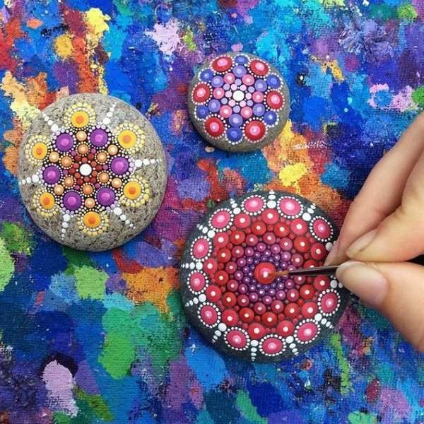 Mandala Stones Come Colorare Fantastici Mandala Su Pietre Video