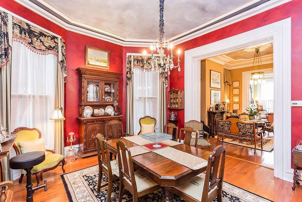 15 salles manger opulentes inspir es du style victorien - Rideaux salle a manger salon ...