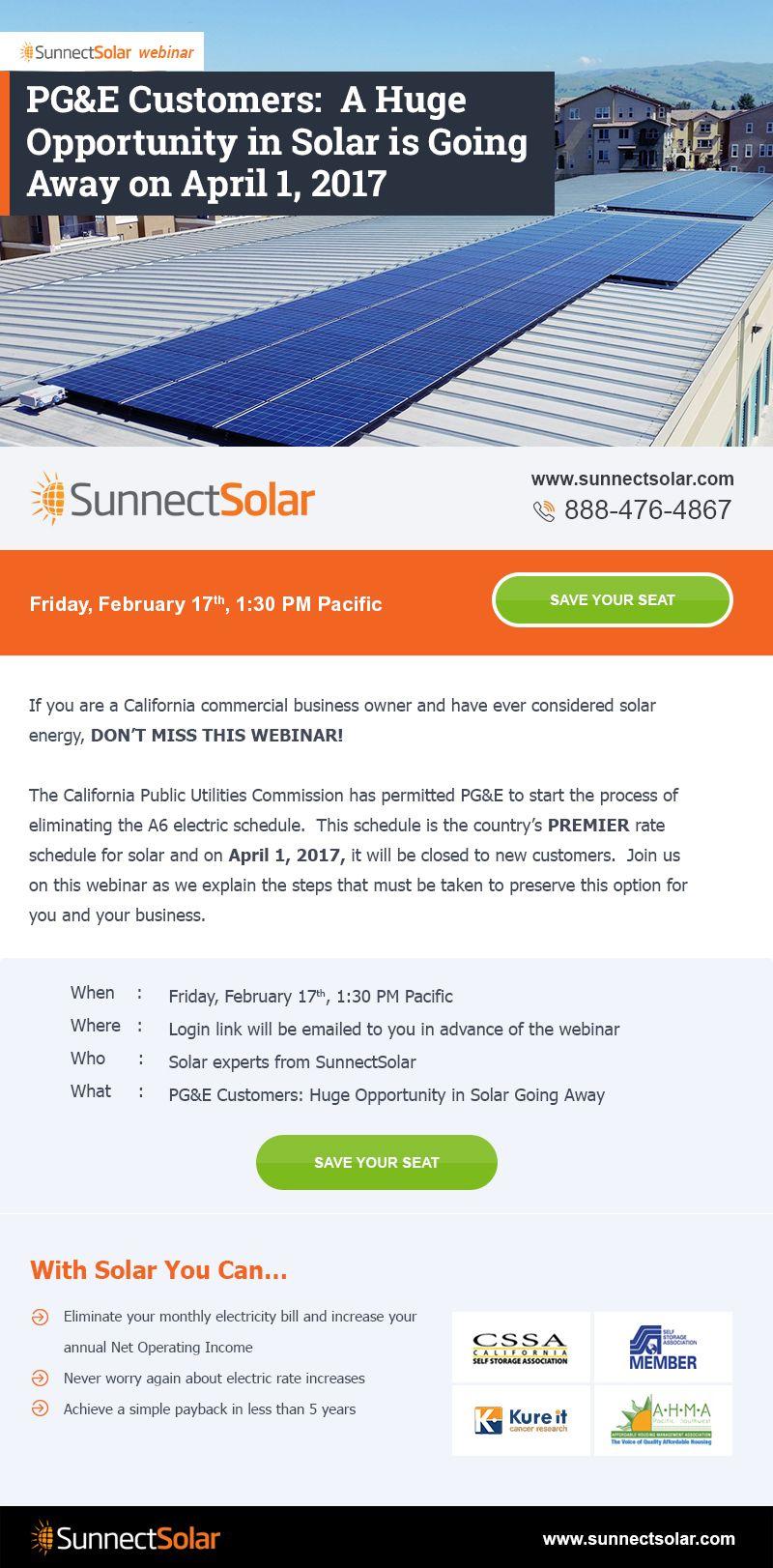 Newsletter Design Solar Energy Solar Webinar