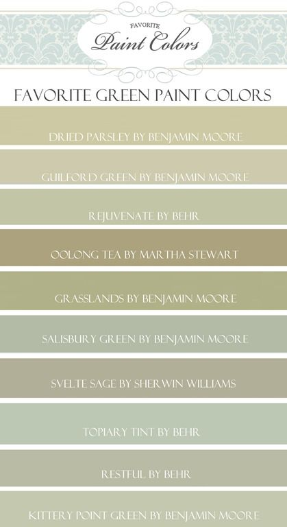 Popular Green Paint Colors favorite behr paint colors | home sweet home | pinterest | behr