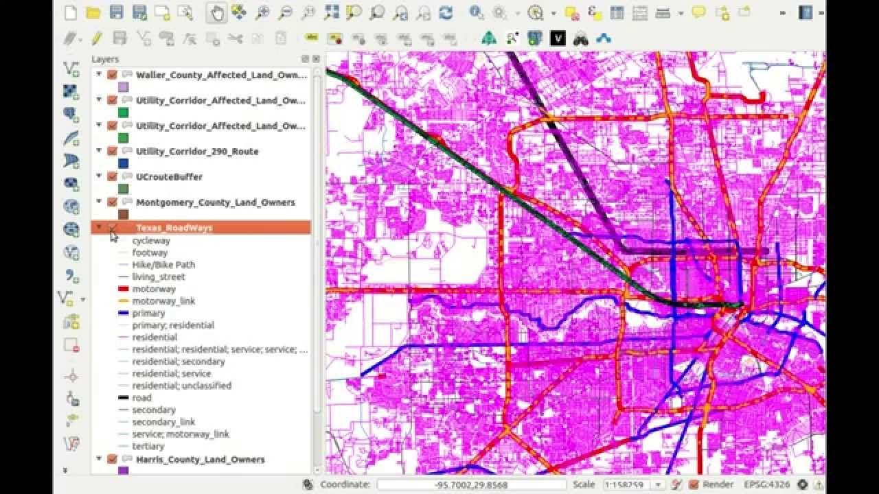 GIS Evaluation Texas High Speed Rail High speed rail