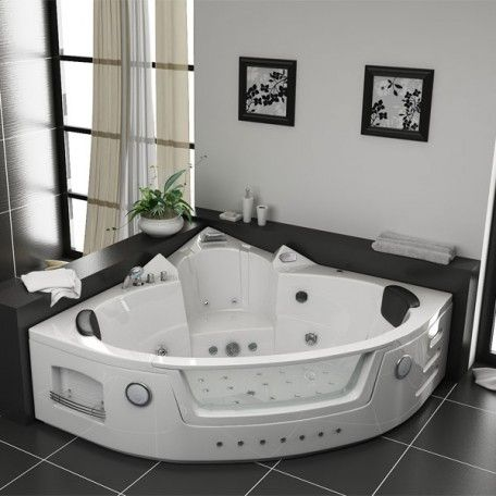 baignoire baln o d 39 angle manhattan whirlpool 38 jets manhattan contemporary bathrooms and house. Black Bedroom Furniture Sets. Home Design Ideas