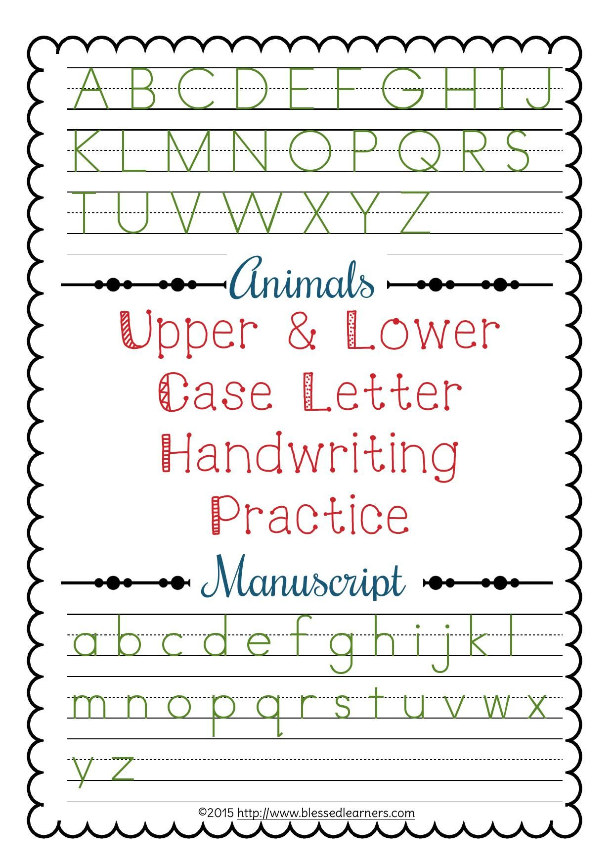 Upper And Lower Case Letter Handwriting Practice