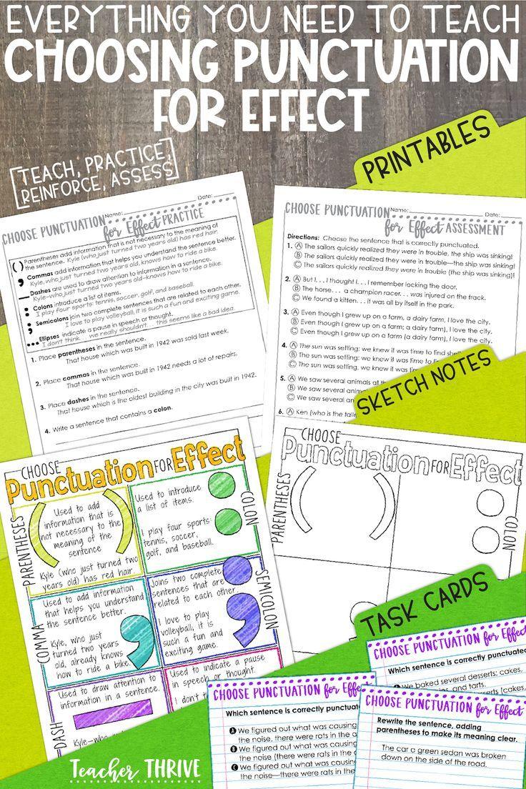 Fourth Grade Grammar Punctuation Teaching punctuation