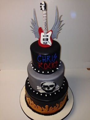 Sensational Rocker Cake Millersbakeshop Com With Images Rock Cake Birthday Cards Printable Opercafe Filternl