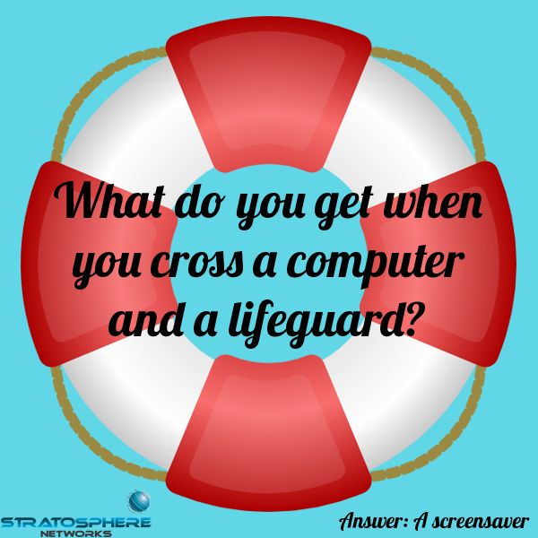 What Do You Get When You Cross A Computer And A Lifeguard Jokes