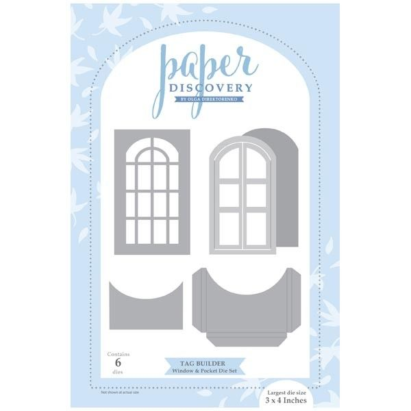 Paper Discovery Die Set Tag Builder Window And Pocket Set Of 6