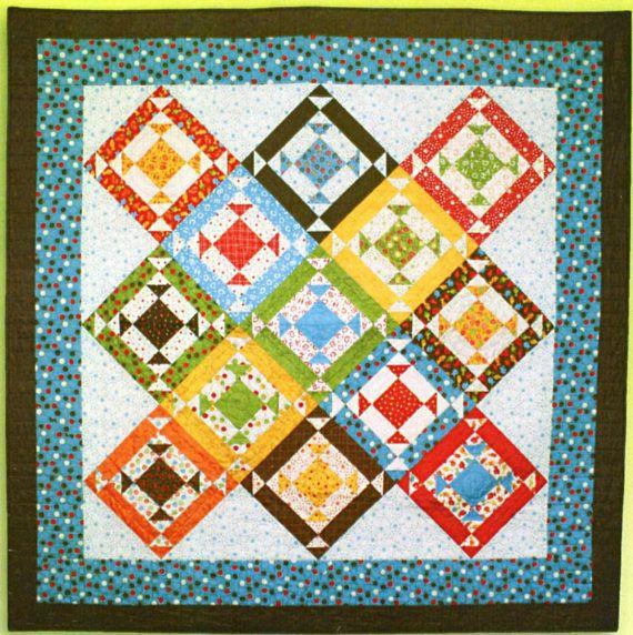 Hopscotch Quilting Pattern Square Patchwork Quilt Diamond Shaped
