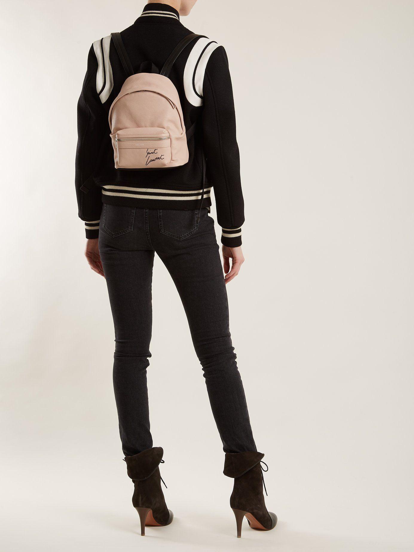 4954b68f2 Toy-city embroidered mini leather backpack | Saint Laurent |  MATCHESFASHION.COM UK