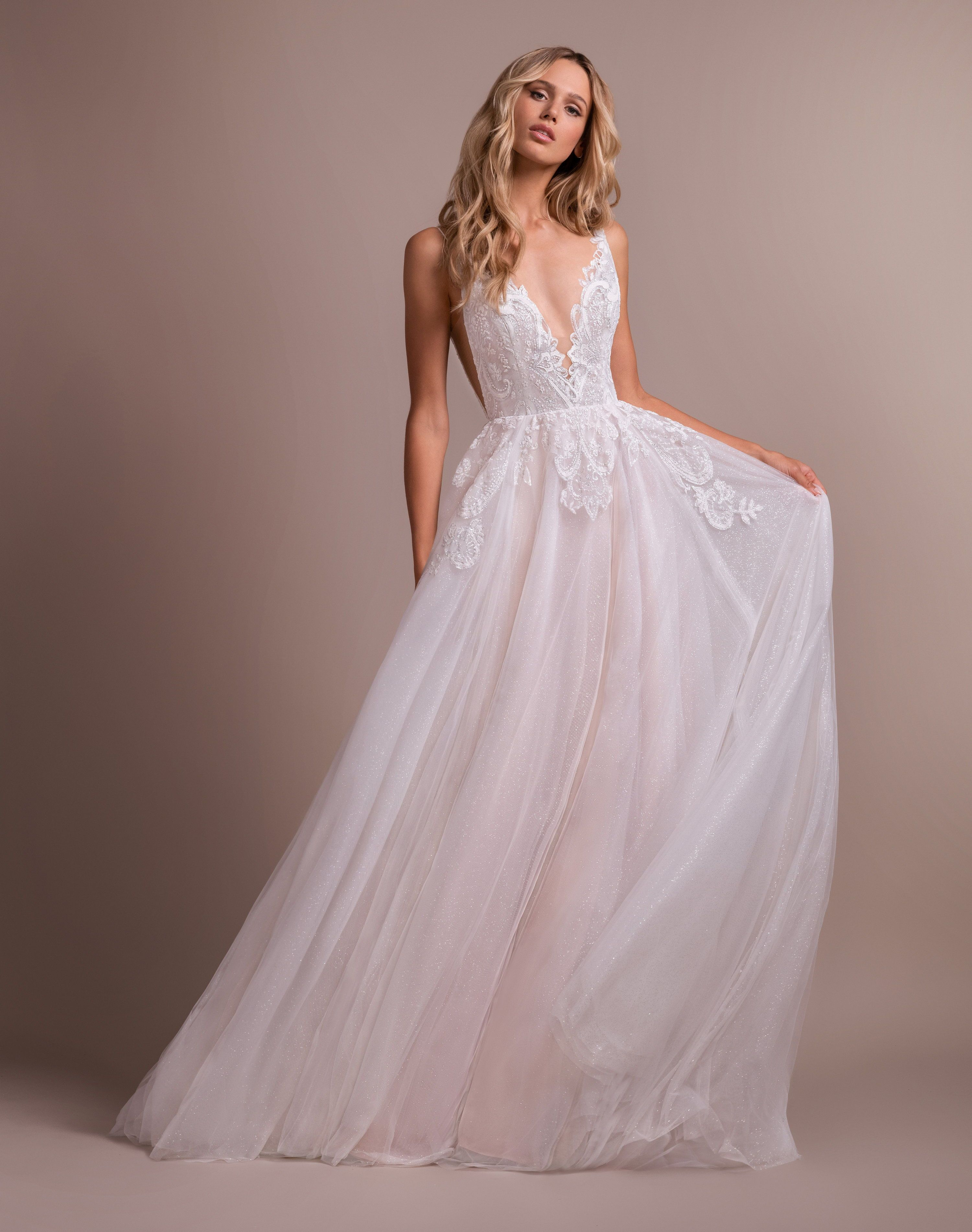 78cdee7fa0 Nash by Hayley Paige | Spring 2019 Collection | Hayley Paige Wedding Dresses  2019 | Hayley Paige bridal gown - Ivory labyrinth caviar A-line gown, ...