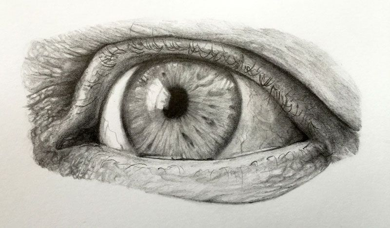 Learn how to draw a realistic eye with graphite pencils in this tutorial
