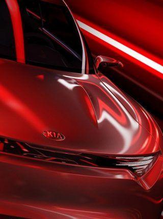 Rojo kia coche deportivo concepto coche fondo de pantalla | Fondos ...