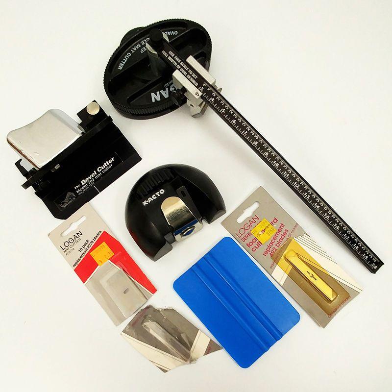 Logan Mat Cutter Lot 201 Oval And Circle 702 Bevel X Acto Cutter Extra Blades X Acto Bevel Cutter
