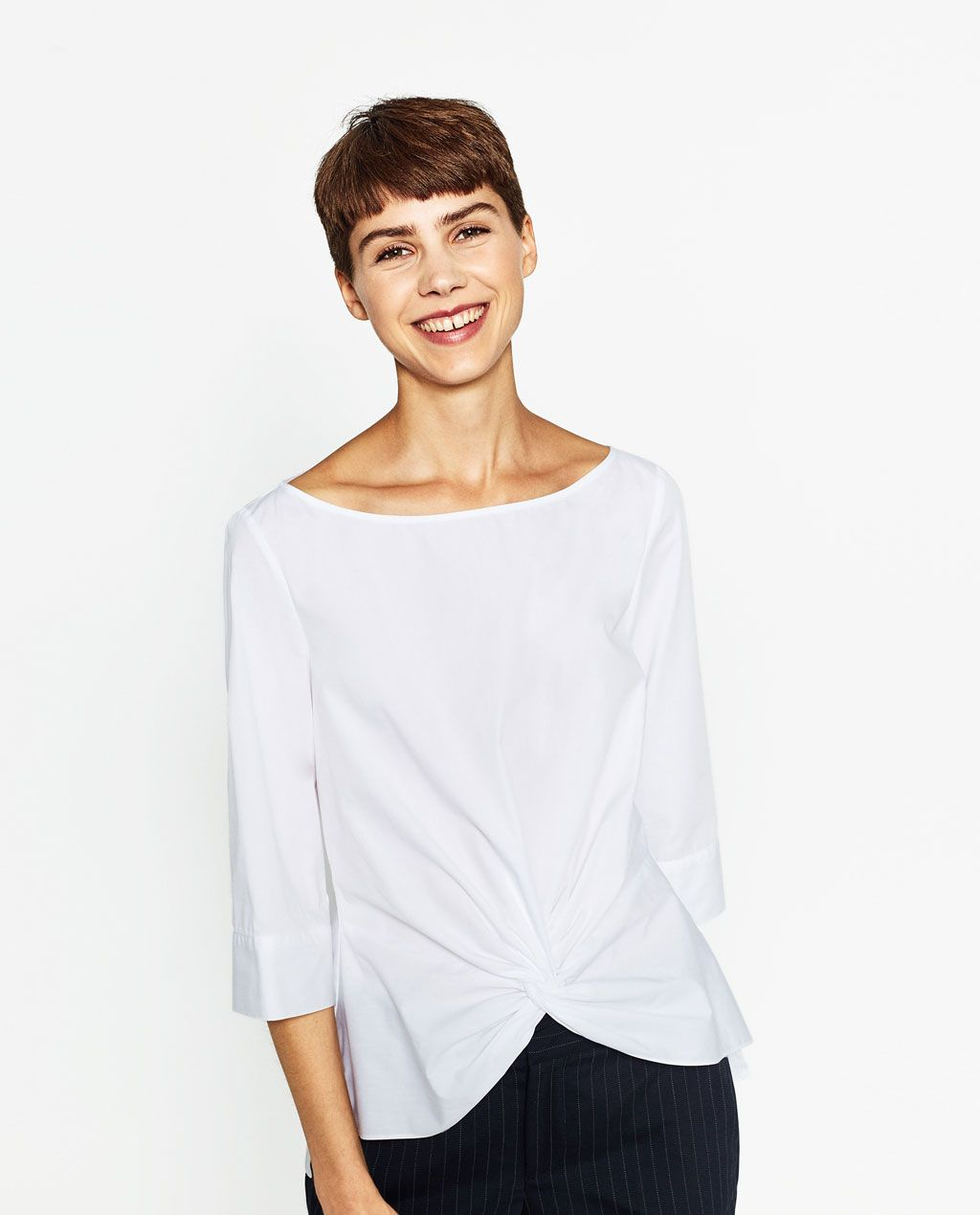 4a809d07ef KNOT BLOUSE - View all-TOPS-WOMAN | ZARA Malaysia | ARCHI.STYLE | Áo ...