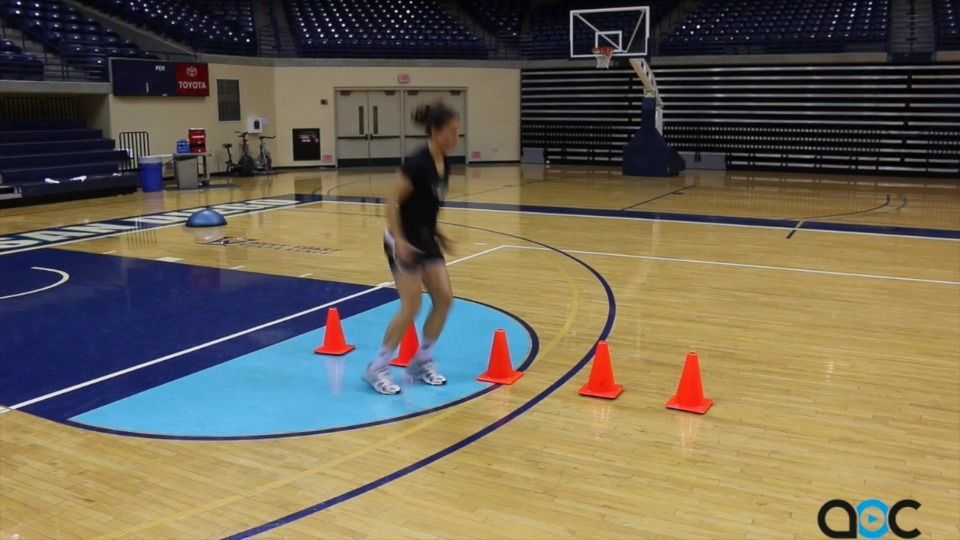 Agility Exercises For Volleyball Players Volleyball Workouts Volleyball Training Volleyball Conditioning