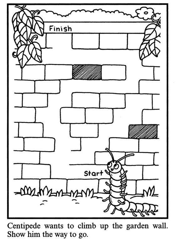 Dover Free Worksheets : Printable maze from dover publications library