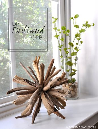 Photo of DIY Driftwood Orb Home Decor, #Decor #DIY #driftwood #Home #Orb