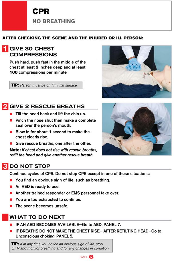 A Printable Guide To Performing Cpr Infographic Your Health
