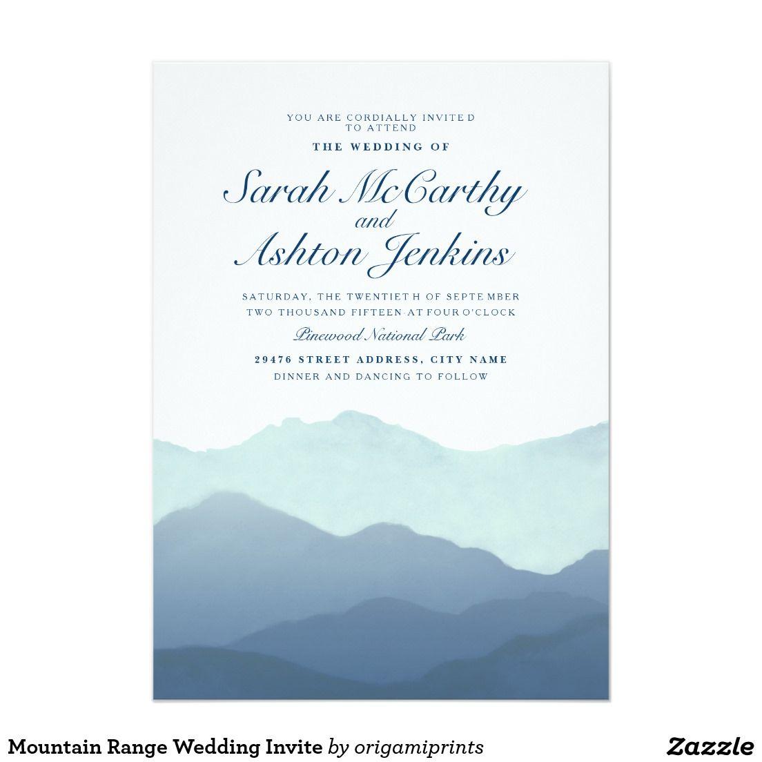Mountain Range Wedding Invite | Perfect Weddings | Pinterest ...