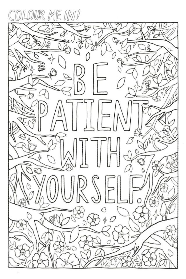 Color Me Printable Art Therapy Quote Coloring Pages Love Coloring Pages