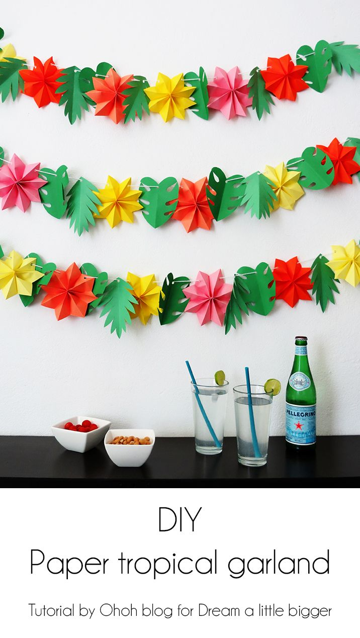 6a41fdd273c3 Make a fun paper garland for your summer party