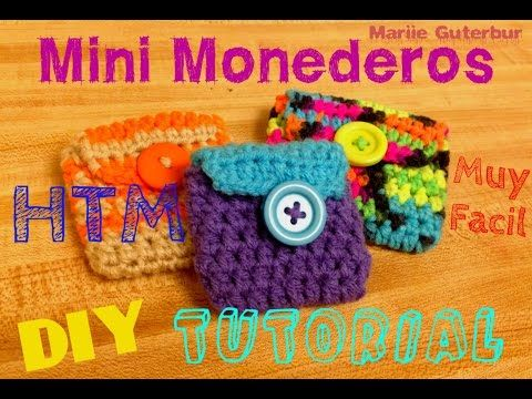 Como Hacer Llavero Monedero a Ganchillo (Mini Bolso de Crochet) DIY