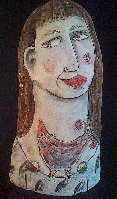 Tania Babb, Lavender Girl Earthenware 75cm R5000