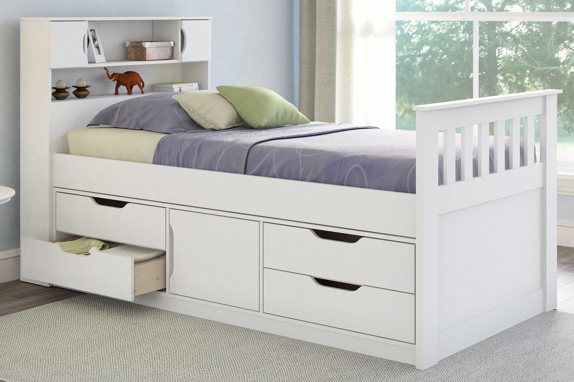 Madison Twin Captain Bed with Storage Luxury bedroom
