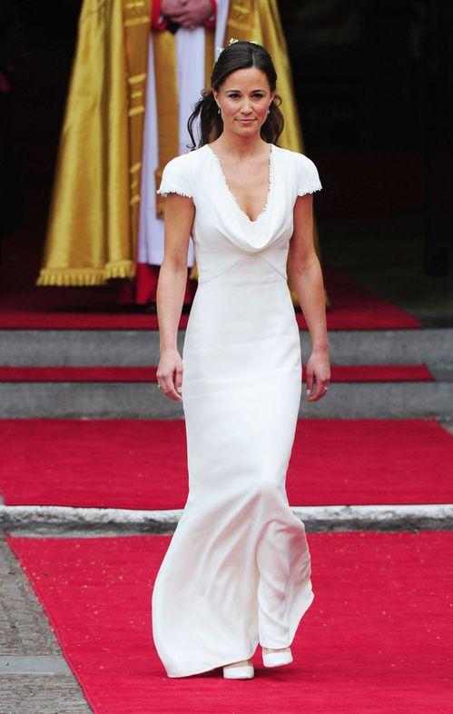 Pippa Middleton en robe de demoiselle d\u0027honneur au mariage Kate et du  Prince William