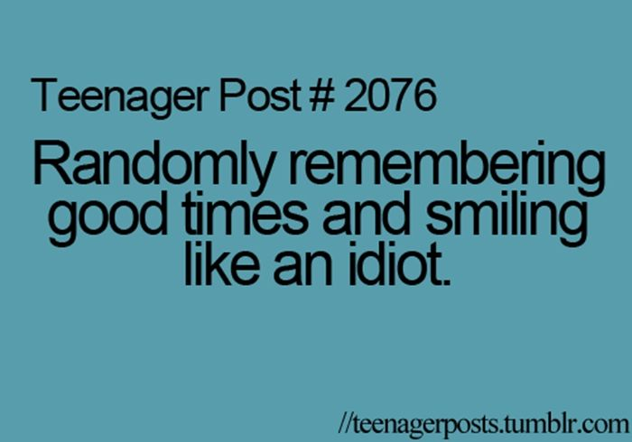 Teenager Post 2076 Randomly Remembering Good Times And Smiling