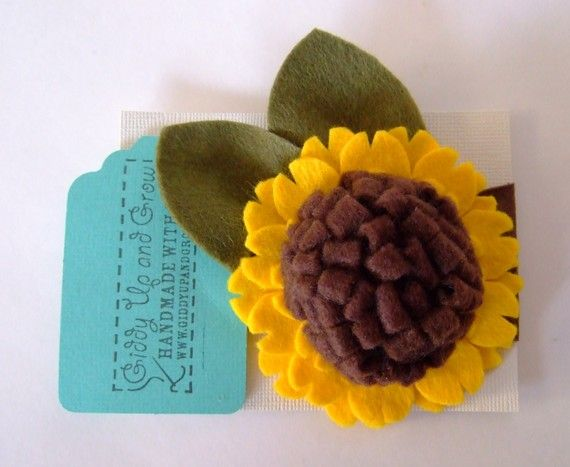 oooh sunflower headband for baby. yes, please.