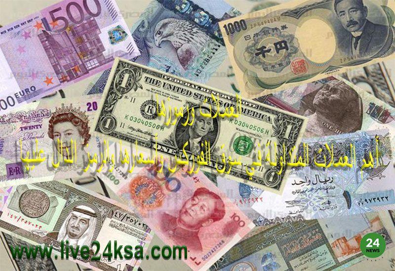 العملات ورموزها أهم العملات المتداولة في سوق الفوركس وأسعارها والرمز الدال عليها Stuff To Do