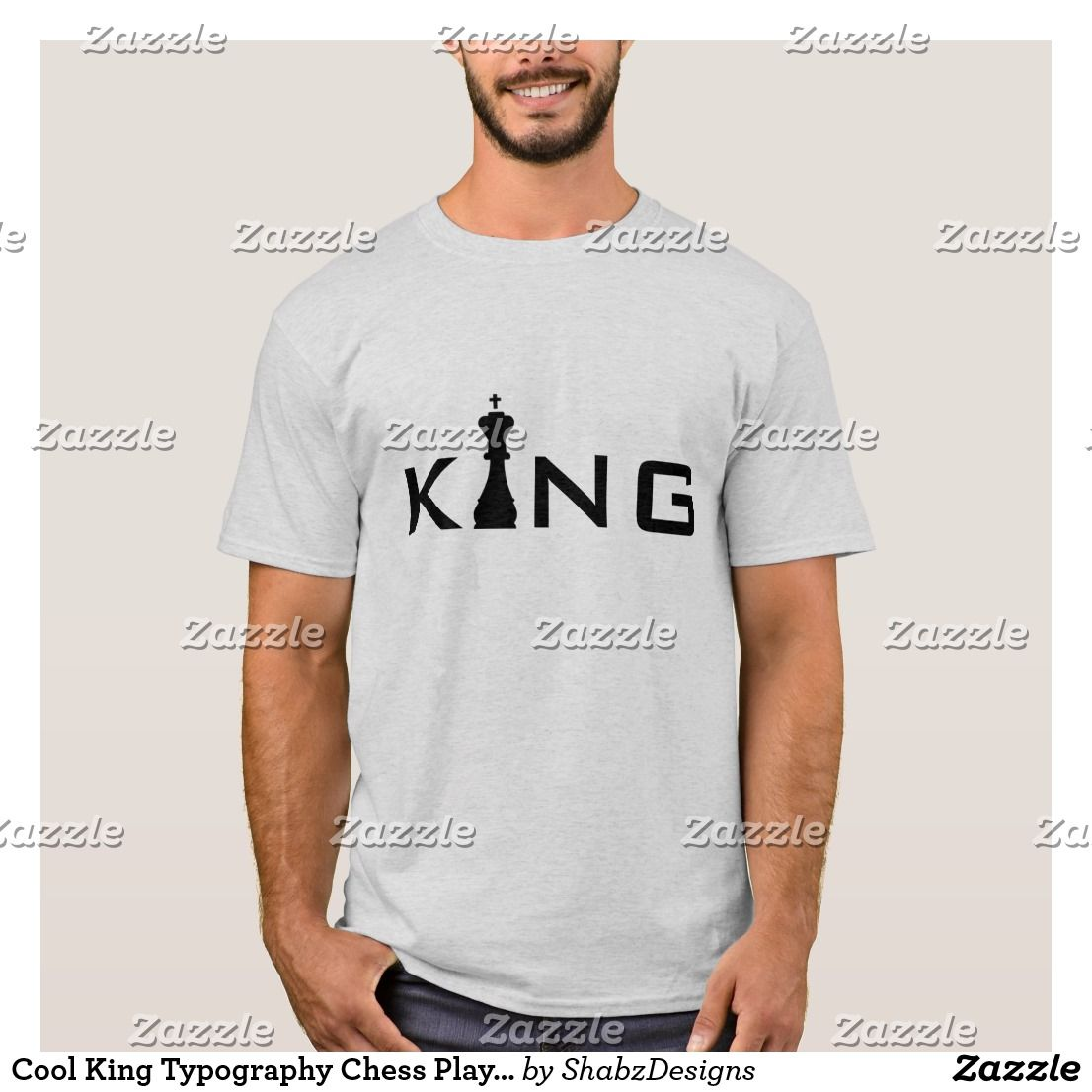 fe335279ec44fe Cool King Typography Chess Player T-Shirt | Zazzle.com in 2019 | Buy ...