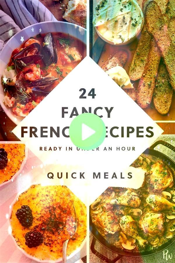 Fancy French Recipes You Can Make in Under an Hour24 Fancy French Recipes You Can Make in Under an Hour This recipe for Baked Mozzarella Chicken Rolls is easy delicious a...