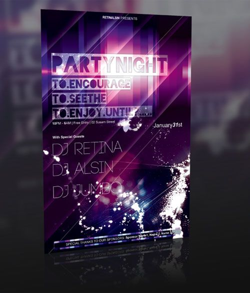 Party Flyer  PSD  Awesome Design