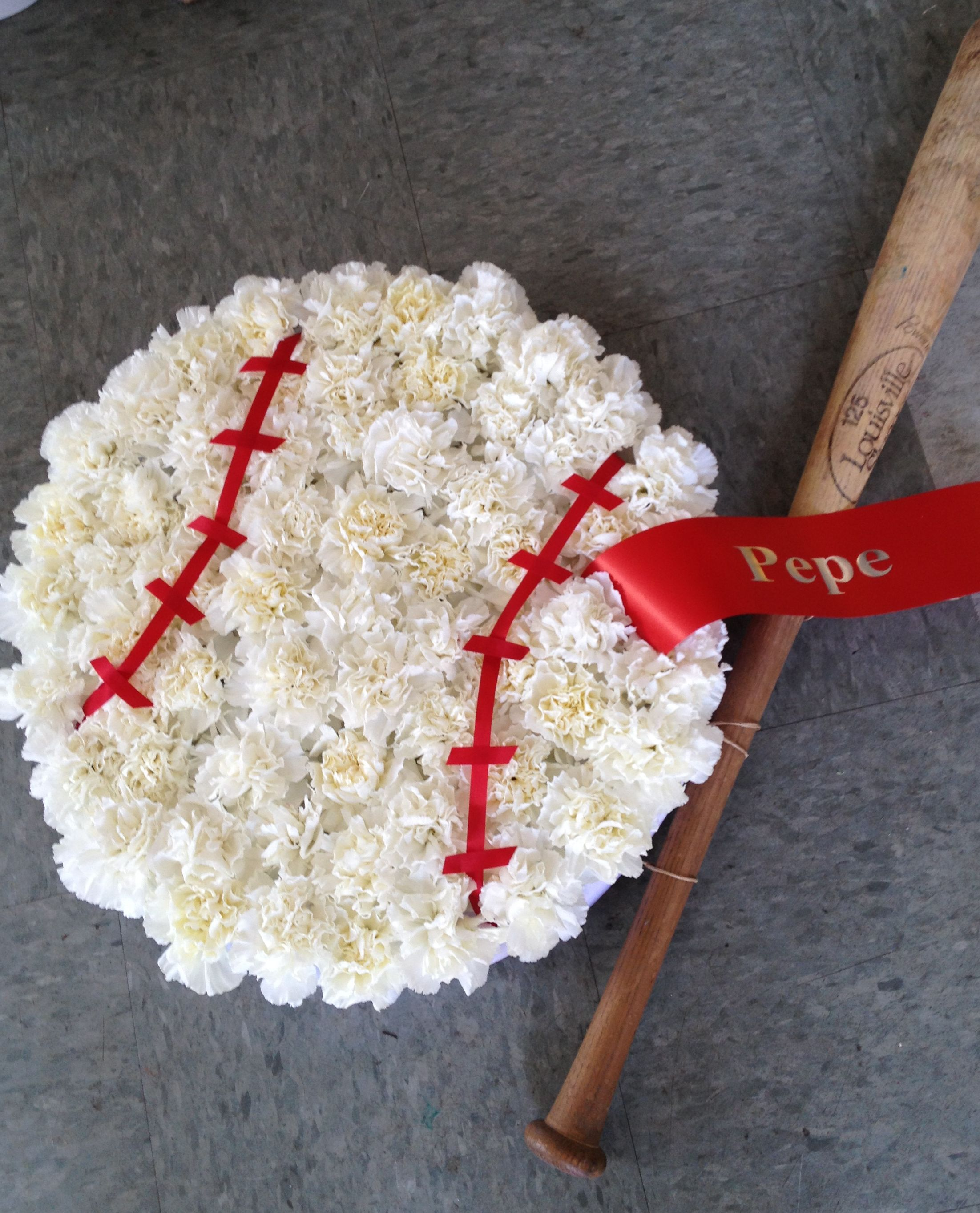 A special tribute for a baseball fan visit us at lefrancoisfloral a special tribute for a baseball fan izmirmasajfo