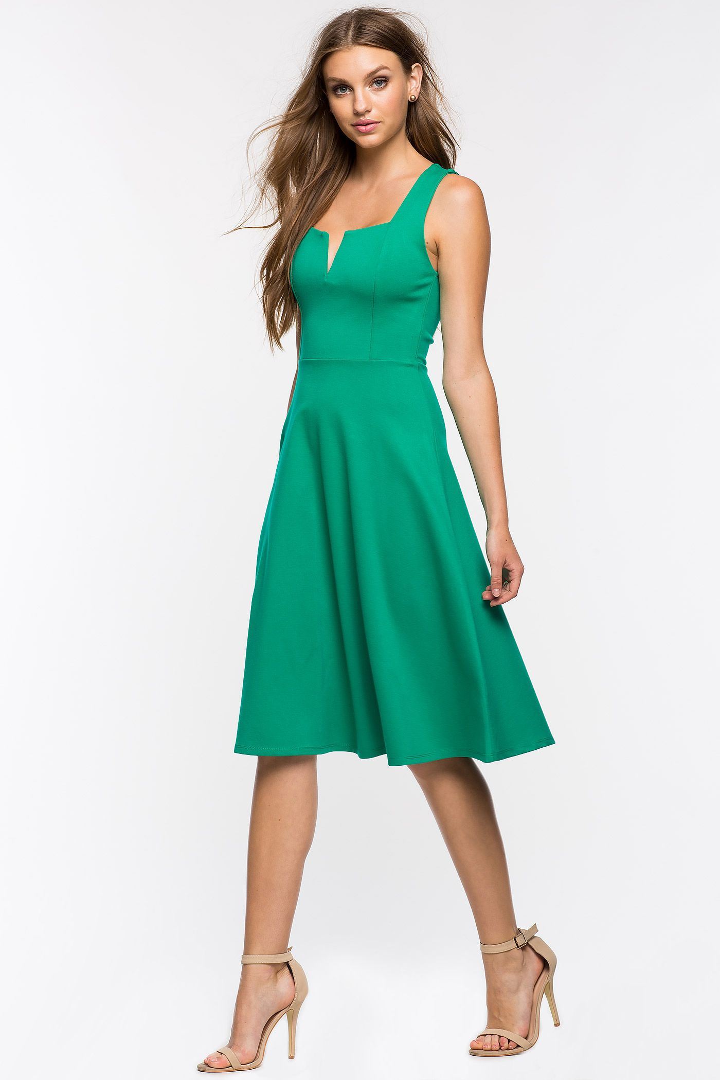 Women\'s Fit & Flare Dresses | Pretty Woman Midi Flare Dress | A\'GACI ...