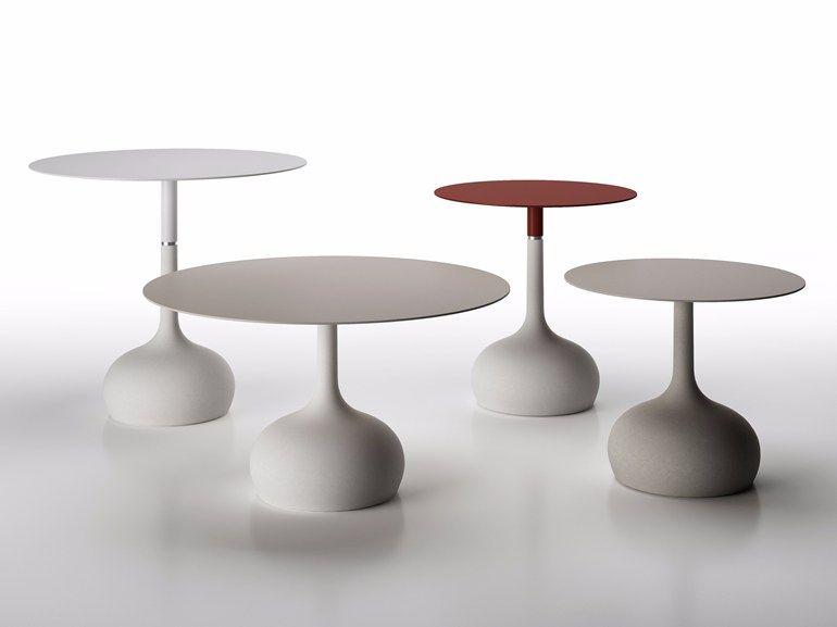 Tavolo rotondo con base in cemento SAEN XS - SN3 by Alias design ...