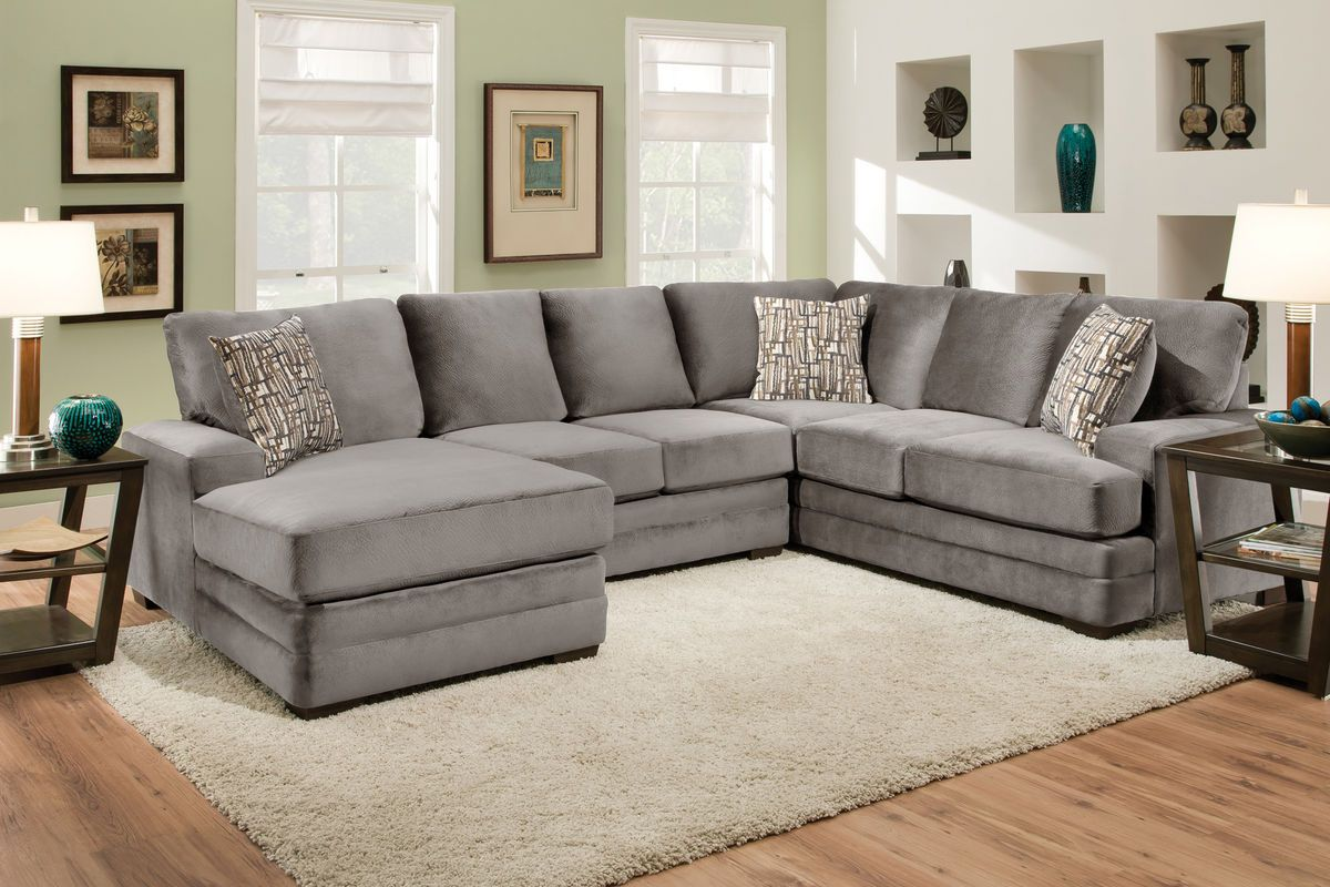 Cove Three Piece Sectional Living Room Design Modern U Shaped Sectional Sofa Apartment Decor