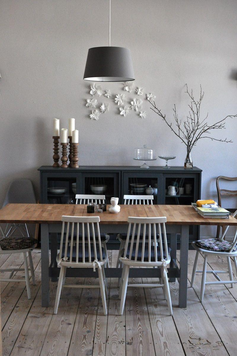 marvelous esszimmer grau streichen #2: Esszimmer in Hellgrau. #KOLORAT #Wandfarbe #grau #streichen