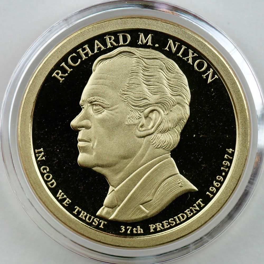 Nixon Presidential Proof in Crystal Clear Coin Capsule 2016-S $1 Richard M