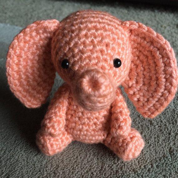 Pink Elephant Amigurumi Free Crochet Pattern | Crochet elephant ... | 570x570