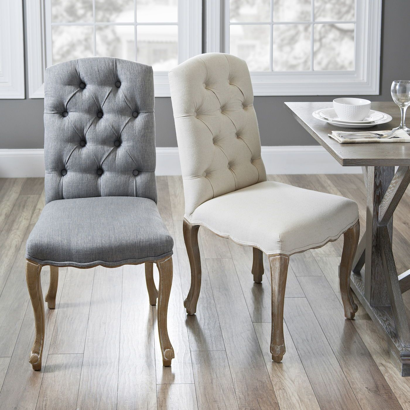 Gray Kerri Dining Chair Grey Dining Room Chairs Dining Chairs